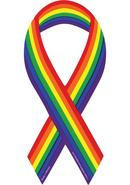 Rainbow Support Ribbon Magnet
