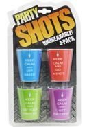 Keep Calm 4 Piece Shot Glass Set