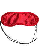 Sex And Mischief Satin Blindfold - Red