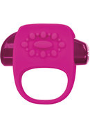 Key Halo Silicone Vibrating Cock Ring - Pink
