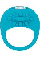 Key Ela Silicone Vibrating Cock Ring - Blue