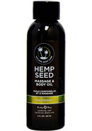 Earthly Body Hemp Seed Massage And Body Oil Nag Champa 2oz