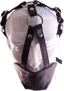 Rouge Leather Adjustable Mouth Chin Gag - Black